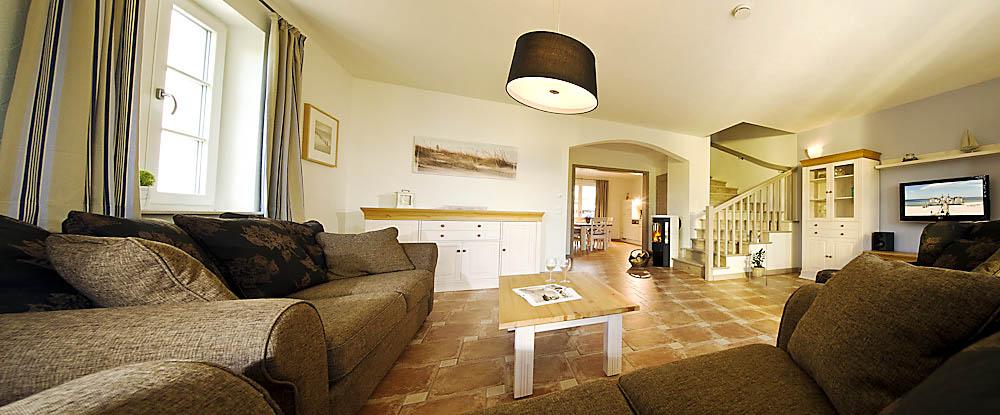 Wohnzimmer im Ferienhaus Antje und Jule – Gutshofhäuser Pendorf,  Sellin Rügen